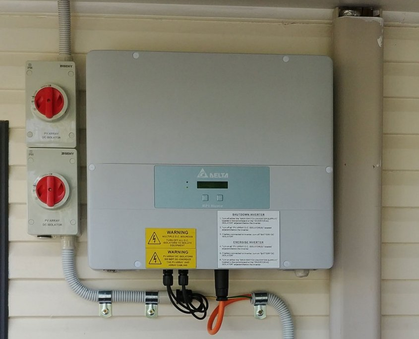 Ipswich Delta Inverter wall installation