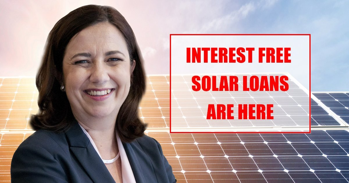 QLD government has noow approved the interest free solar loans program