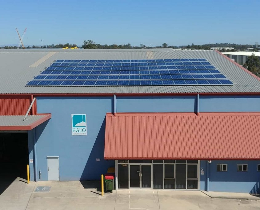 Richlands Solar Panels installed on commercial roof
