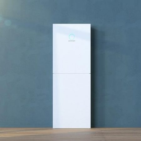 Sonnen Batterie Eco solar battery on a blue background
