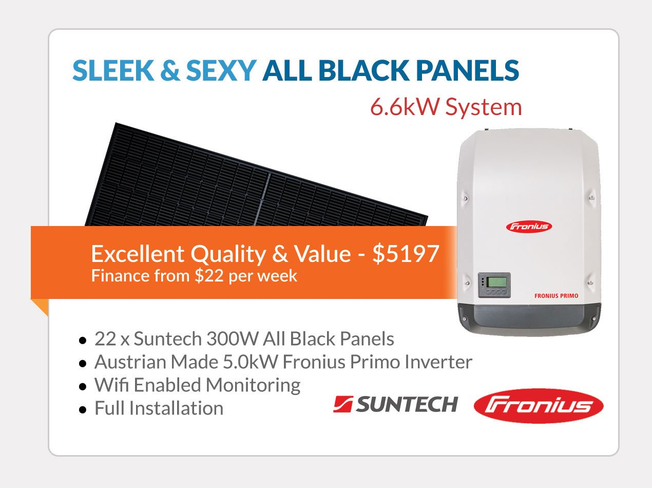 All Black Solar Panels Solar Special for Brisbane
